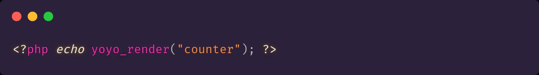 Yoyo component render function